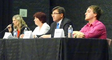 Candidates take questions