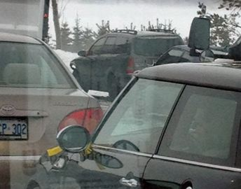 Orillia's Jeremy Gaudet is stuck in traffic behind a 96-vehicle pileup on Hwy. 400.