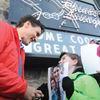 Crowds greet Prime Minister Justin Trudeau in Bewdley