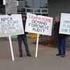 Protesters at NPCA board meeting