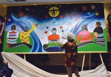 Blessing the mural