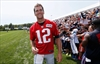 Fired-up Brady talks trash, celebrates at Patriots camp-Image1
