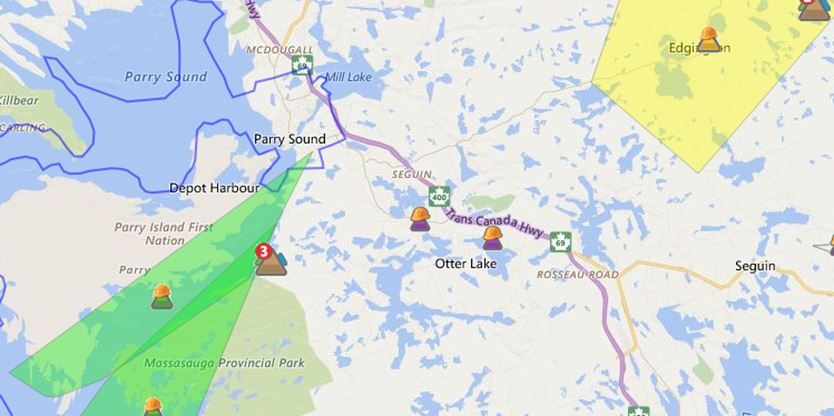 Update Power Back For Most In Parry Sound Area
