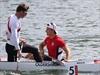 Adam van Koeverden and Mark Oldershaw hit the water