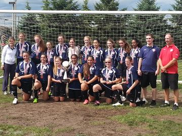 Navy Blue Sylvan dominated OSC U13/14 girls' house league