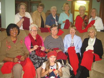 Oakville's Bronte Grandmothers join Red Scarf Campaign