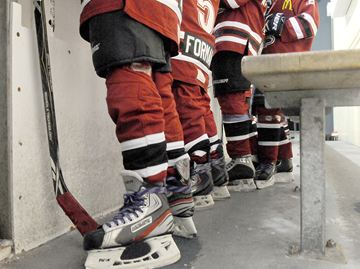 WHITBY -- Members of the Whitby Dynamite hockey team were wearing purple laces Players on a minor hockey team in Whitby are wearing purple laces during their game to raise awareness about chiari malformation, a rare condition in which brain tissue extends into the spinal canal for which one of the team members' grandmother suffers from the condition. February 15, 2014