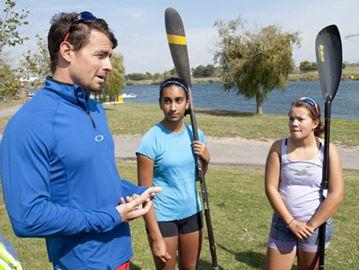 Budding athletes get some Olympic-level coaching