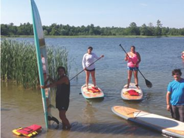 Paddleboards on Buckhorn Lake