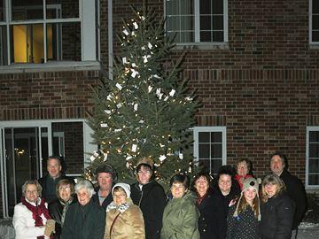 Tree of Remembrance lit up in Penetanguishene