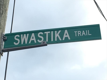 A major Jewish advocacy group in Canada is demanding that a municipality in southwestern Ontario rename a street called Swastika Trail. B'nai Brith Canada started a petition Thursday after residents in Puslinch Township, about 75 kilometres west of Toronto, approached the organization for help.THE CANADIAN PRESS/HO-Jennifer Horton