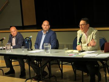 Liberal incumbent Peter Milczyn, NDP candidate Phil Trotter and the Green Party's Chris Caldwell squared off at an all-candidates' debate hosted by LAMP Community Health Centre at The Assembly Hall on May 15.