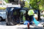 Mercedes rollover in Burlington injures two