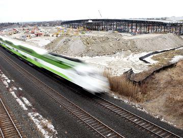 GO Transit east rail maintenance facility