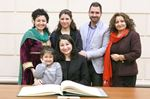 Minister Maryam Monsef and family