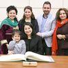 Minister Maryam Monsef and family