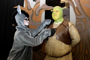 – Michael Brownlee and Andrew Hurt are Donkey and Shrek in Shrek: The Musical.