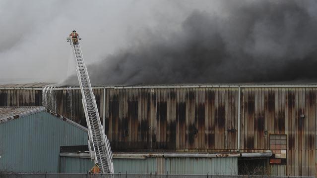 Blaze under control at Burlington metal recycling facility