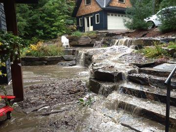 FLOOD DAMAGES COUPLE'S HOME