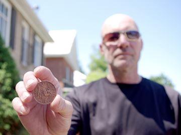 Alliston man unearths coin from 1857
