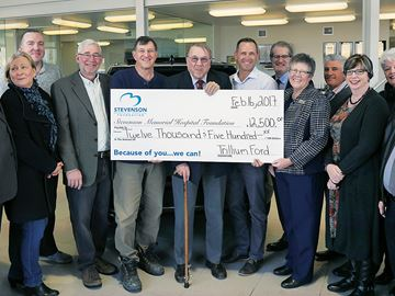 Trillium Ford Lincoln donates $12,500 to Stevenson Memorial Hospital