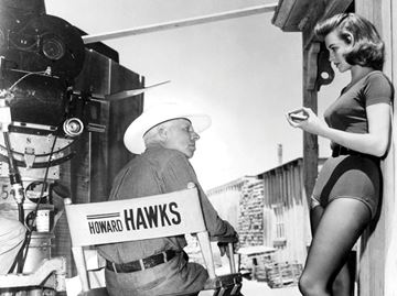 Howard Hawks and Angie Dickinson