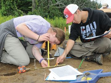 Students test out new technology at Pickering archaeological dig-image1