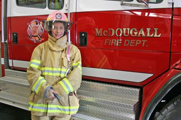 Women have important roles as firefighters