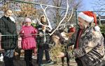 'Comet' the reindeer stopped by Santa's Cabin at Burlington's RBG