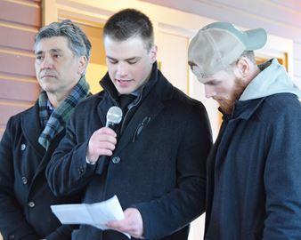Candlelight vigil for Gennadi Brianski
