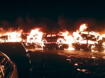 Fire at Abe Auto Wreckers in Bowmanville engulfs 150 cars