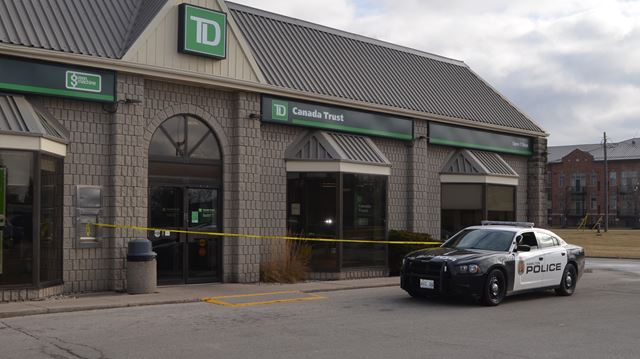 Police investigating robbery at td bank in waterdown for Td garage services