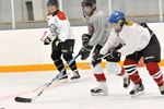 Women's shinny at Scugog arena