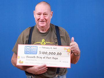 Ken Bray lottery winner