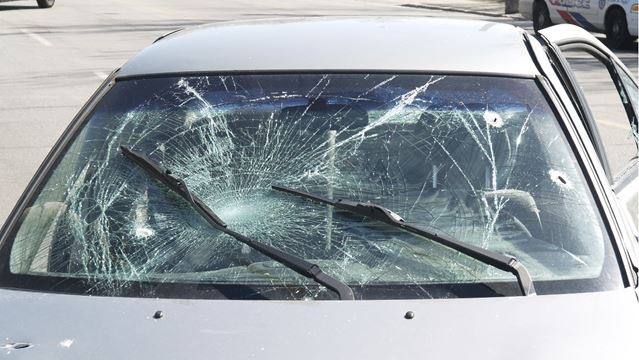 Windshield Damage from Impact