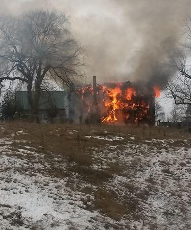House on fire in Clarksburg