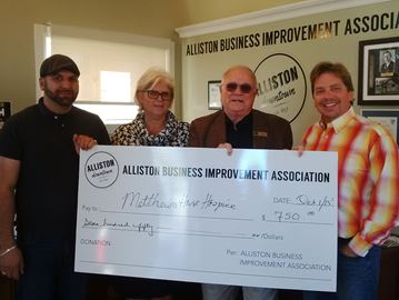 Alliston business association donates to volunteer groups