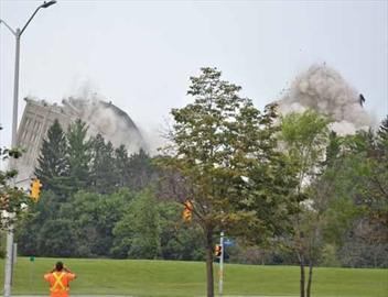 Blasting the past; Sir John Carling Building comes down in impressive – Image 1