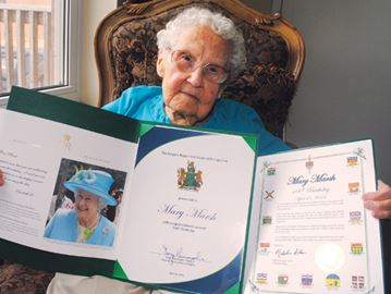 Mary Marsh still going strong at 100
