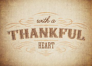 With a thankful heart
