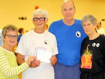 Meaford Tai Chi group makes donation to medical clinic