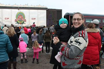 CP Holiday Train in MacTier and Pary Sound