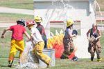 Pretend firefighting excitement