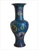 Cloisonne vase cc