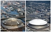Superdome then and now