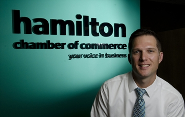 Keanin Loomis is the new president of the Hamilton Chamber of Commerce