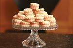 Vanilla Shortbread Buttons with Raspberry Cream