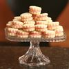 Vanilla Shortbread Buttons with Raspberry Cream