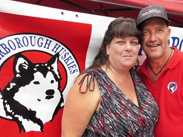 Cathie and Dave Tuck of the Peterborough Huskies