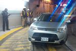 SUV stuck in TTC tunnel